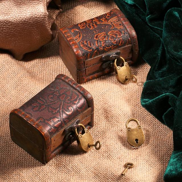Old Vintage Antique Style Mini Archaize Padlocks Key Lock With key