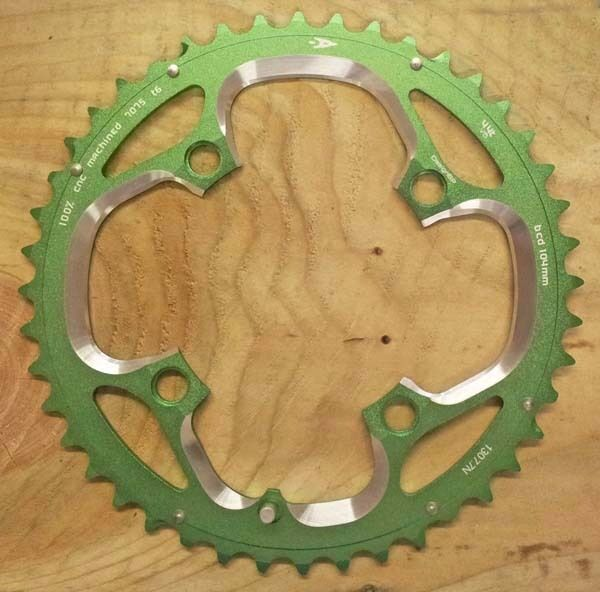 Aerozine 44T Shimano Compatible Chainring MTB Bike 104BCD 44 Teeth Green