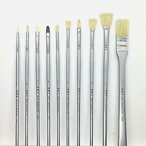 10pc Pro Artist PAINT BRUSH Set for Artist Acrylic//Oil//Watercolour Art Craft