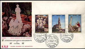 Vatican 1967 FDC Mi 528-530 - 50th anniversary of the apparitions of Fatima - Bydgoszcz, Polska - Vatican 1967 FDC Mi 528-530 - 50th anniversary of the apparitions of Fatima - Bydgoszcz, Polska