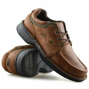 Mens-Leather-Casual-Smart-Lace-Up-Walking-Work-Moccasin-Driving-Boat-Shoes-Size