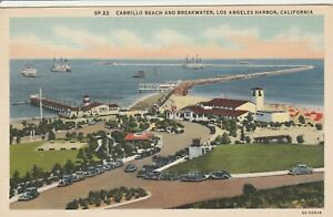 Z-Los-Angeles-CA-Bird-039-s-Eye-View-of-Los-Angeles-Harbor-and-Surroundings