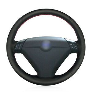 For-Volvo-S80-XC70-Car-Hand-stitch-Steering-Wheel-Cover-Black-Artificial-Leather