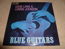EDDIE LANG & LONNIE JOHNSON-Blue Guitars MONO VINYL LP UK ORIGINAL