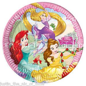 Image is loading DISNEY-PRINCESS-Paper-Plate -Birthday-Party-Supplies-Tableware-  sc 1 st  eBay & DISNEY PRINCESS Paper Plate Birthday Party Supplies Tableware Big 9 ...