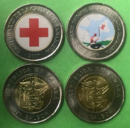 Panama Coins 1 Balboa 2017//18 Comm Centenary Red Croos Panama 1917-2017 lot 2 p