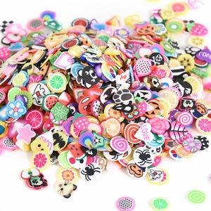 DIY-1000pcs-3D-Fruit-Animals-Fimo-Slice-Clay-Nail-Art-Tips-Sticker-Decorations