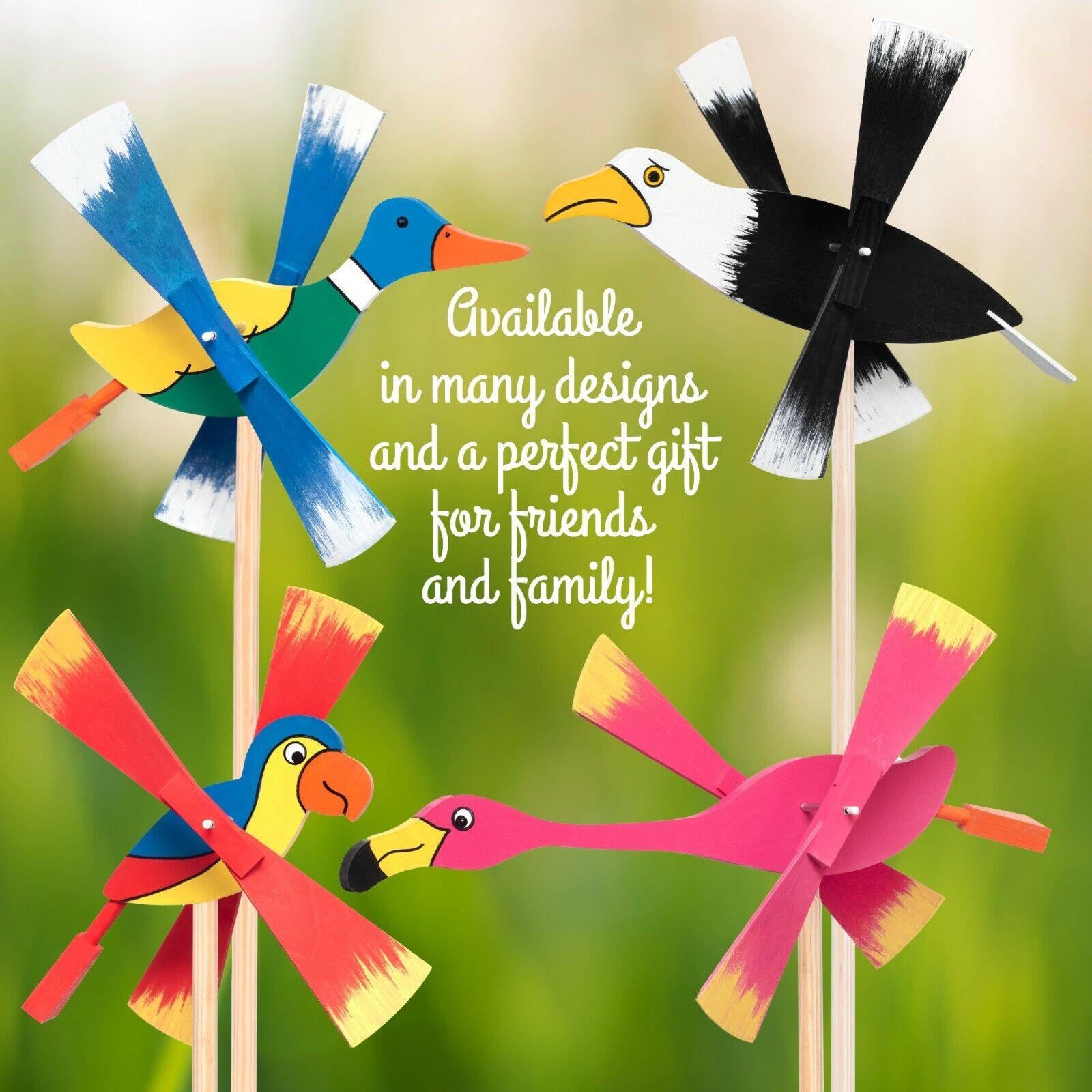 Wind Spinner Bird Repellent Cute Toy for Children Outdoor Garden Balcony Autism