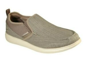 Skechers-Delton-Air-Cooled-Memory-Foam-taupe-slip-on-shoes-mens-Size-13