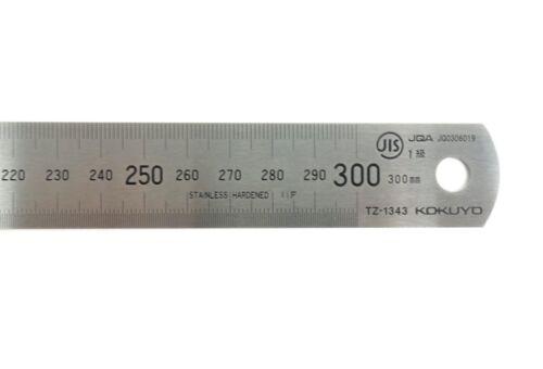 KOKUYO Stainless Steel Straight Ruler 30cm 300mm TZ-1343 MADE IN JAPAN