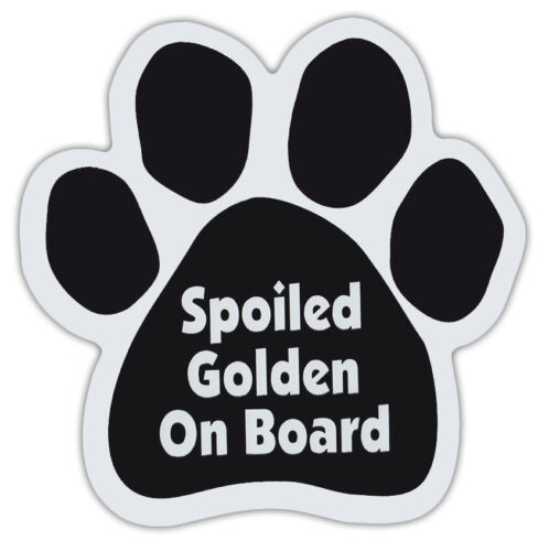 Gifts Cars Dogs RETRIEVER Dog Paw Shaped Magnets: SPOILED GOLDEN ON BOARD
