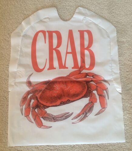 Crabe Bavoirs Lot de 25 jetables en plastique livraison gratuite de fruits de mer HOMARD festin Bake