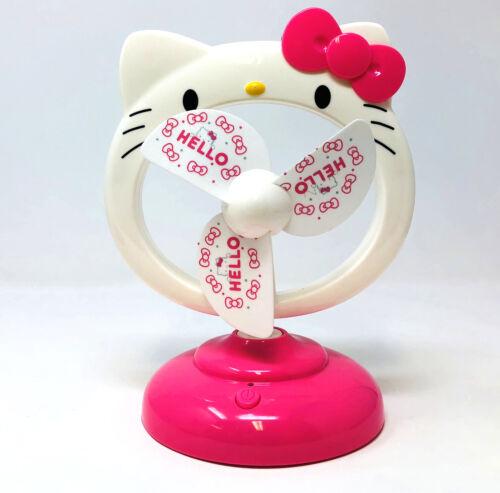 """Hello Kitty 8/"""" Portable Bureau Ventilateur de refroidissement Maison Bureau Chargement USB SUMMER FAN"""
