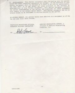 ROB-LOWE-signed-ABC-TV-contract-1981-Mean-Jeans-w-COA
