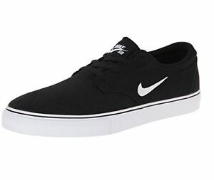 94928786e21f Men s Nike SB Clutch Canvas Skate Shoe Black 729825 001