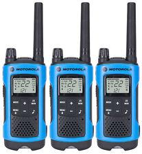 3 Motorola TalkAbout T461 FRS GMRS 2-WAY Radios Walkie Talkie Ni-MH Case WEATHER