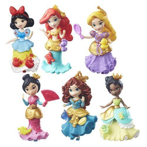 Ariel R... Set of 6: Disney Princess Little Kingdom Classic Dolls Snow White