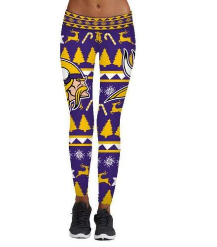 S-XL Legging Minnesota Vikings /& Milu printed high waist wide belt Legging 857