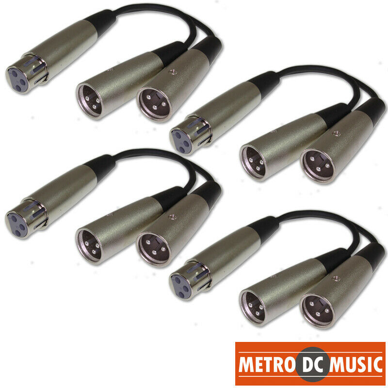 4-Pack XLR Female to Dual XLR Male Splitter Y Cable Adapter Converter Cord MDM. Buy it now for 19.69