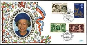 Bon CœUr Gb 1996 Qeii 70th Birthday, Benham Couverture En Soie #c45467-afficher Le Titre D'origine Nous Avons Gagné Les éLoges Des Clients
