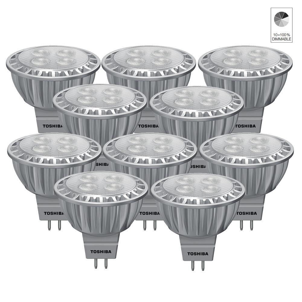 10x toshiba e-Core LED reflector lámpara emisor mr16 gu5.3 6,5w blancoo neutro 4000k