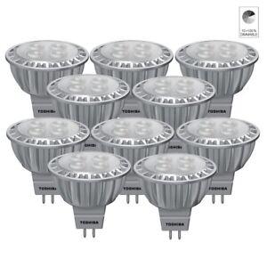 10x-Toshiba-E-Core-Led-Lampe-a-Reflecteur-Spot-MR16-GU5-3-6-5W-Blanc-Neutre