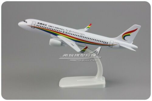 20CM Solid TIBET AIRLINES AIRBUS A320 Passenger Airplane Metal Diecast Model
