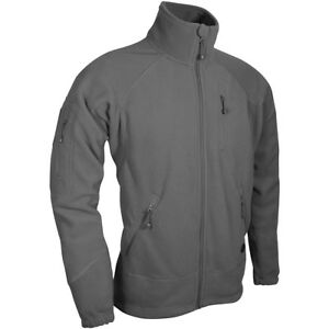Viper-Special-Ops-Fleece-Jacket-Hommes-Chaud-Polaire-Pull-Sport-Coat-Gris-Titane