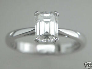 Diamond-Platinum-Solitaire-Engagement-Ring-0-50ct-Emerald-Cut-Certified-D-IF-VG