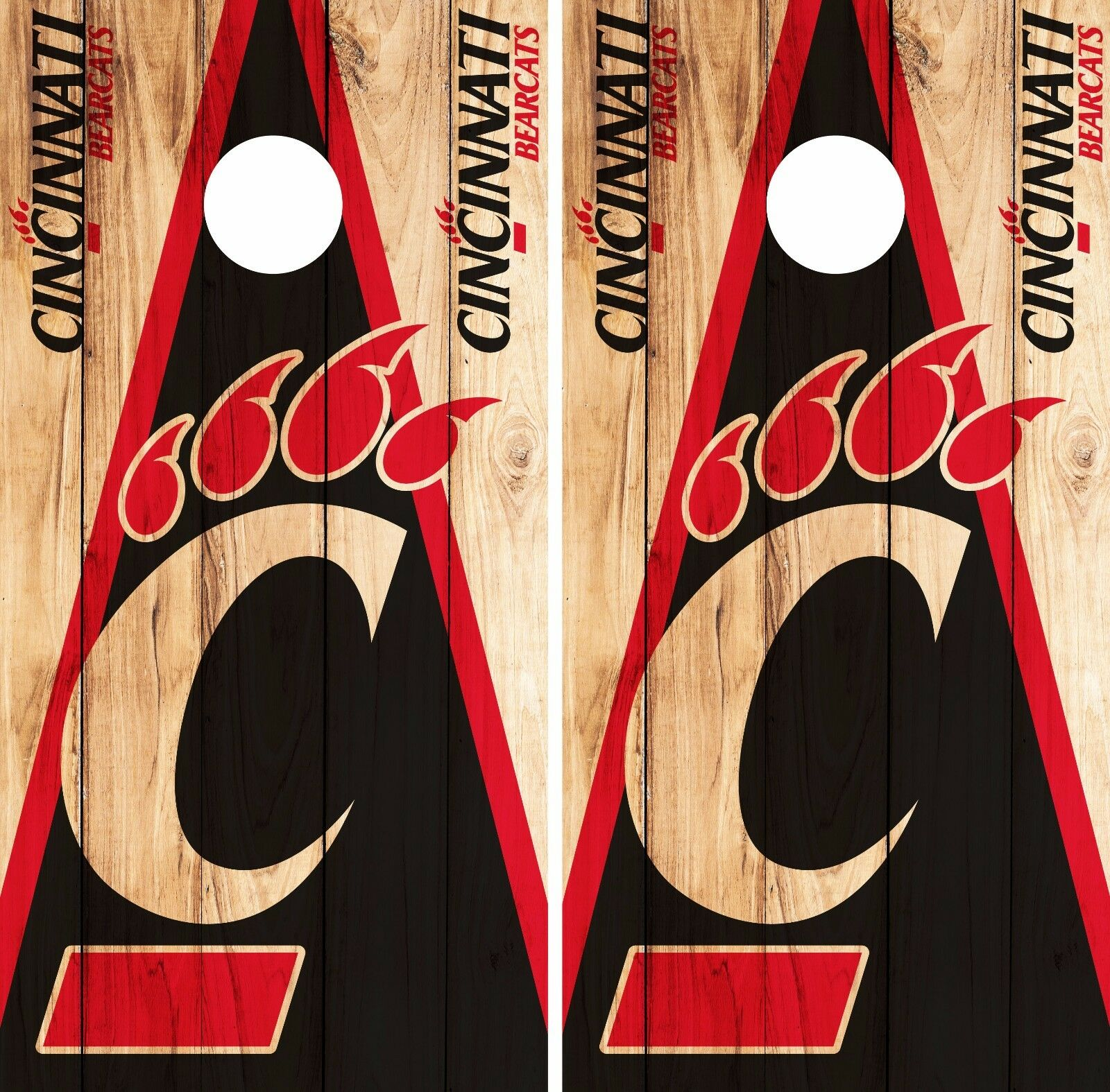 Cincinnati Bearcats Cornhole Skin Wrap NCAA College Wood Design Vinyl DR343