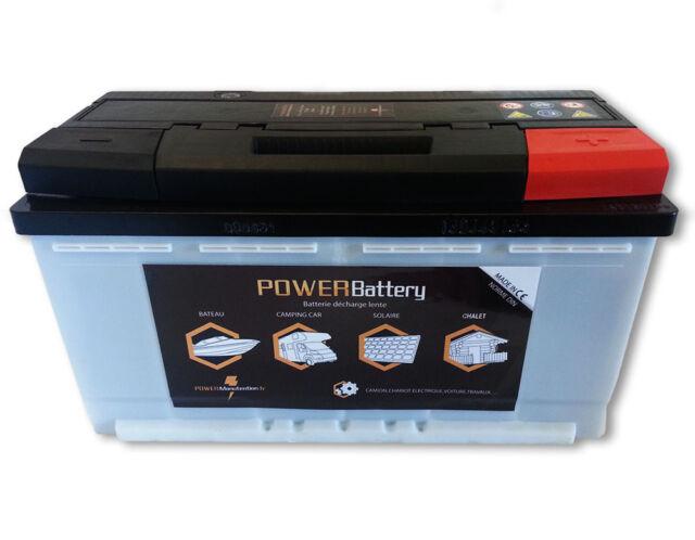 Batterie stationnaire solaire prête à l'emploi à décharge lente 12v 130ah
