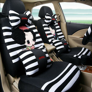 Astounding Details About New 19Pcs 1 Sets Cartoon Stripe Lovers Car Seat Cover Cute Car Cushion Universal Pdpeps Interior Chair Design Pdpepsorg