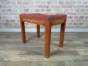 Mid-Century-Sitzhocker-Stool-Hocker-Polsterhocker-Vintage-50er-60er-Jahre-alt