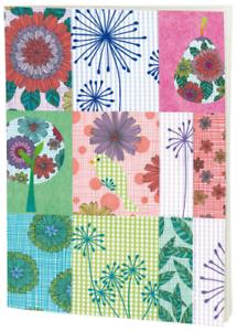 *Wendekreis*Notizbuch/&Notizheft*A5*liniert*Flower patchwork*Blumenquadrate*