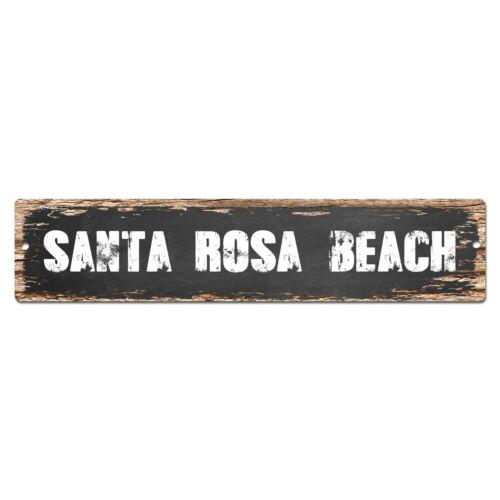 SP0374 SANTA ROSA BEACH Street Sign Bar Store Cafe Home Kitchen Chic Decor Gift