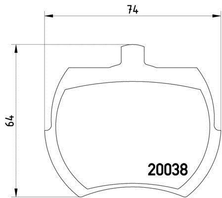 MLB37 M1144 Mintex Plaquettes Frein Disque de frein avant