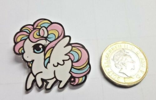 Lindo Arco Iris Pony Caballo Acrílico Badge Pin Insignias-Mochila Broche