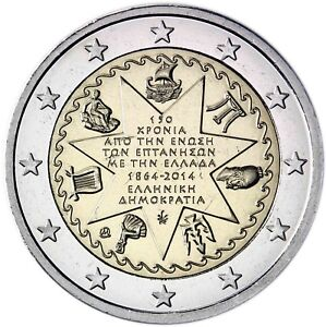 Griechenland 2 Euro Münze 2014 Bfr 150 Jahre Union Der Ionischen