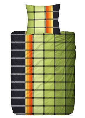 Bettwaren, -wäsche & Matratzen Bettwäschegarnituren 4 Tlg Bettwäsche 135x200 Cm Karo Schwarz Grün 2 Garnituren Microfaser Kaufe Jetzt