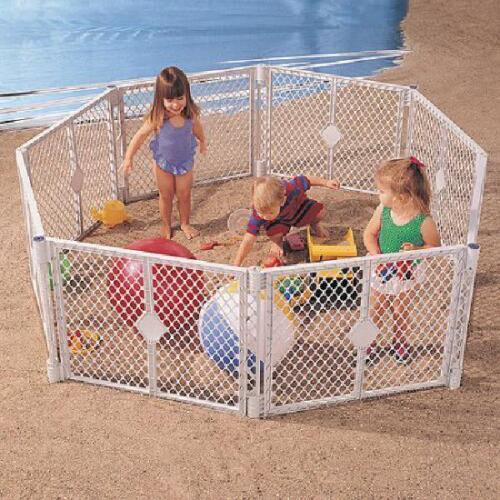 Super Yard XT Extension Kit Baby Play Gate Wide Walk Door Set Separately Durable
