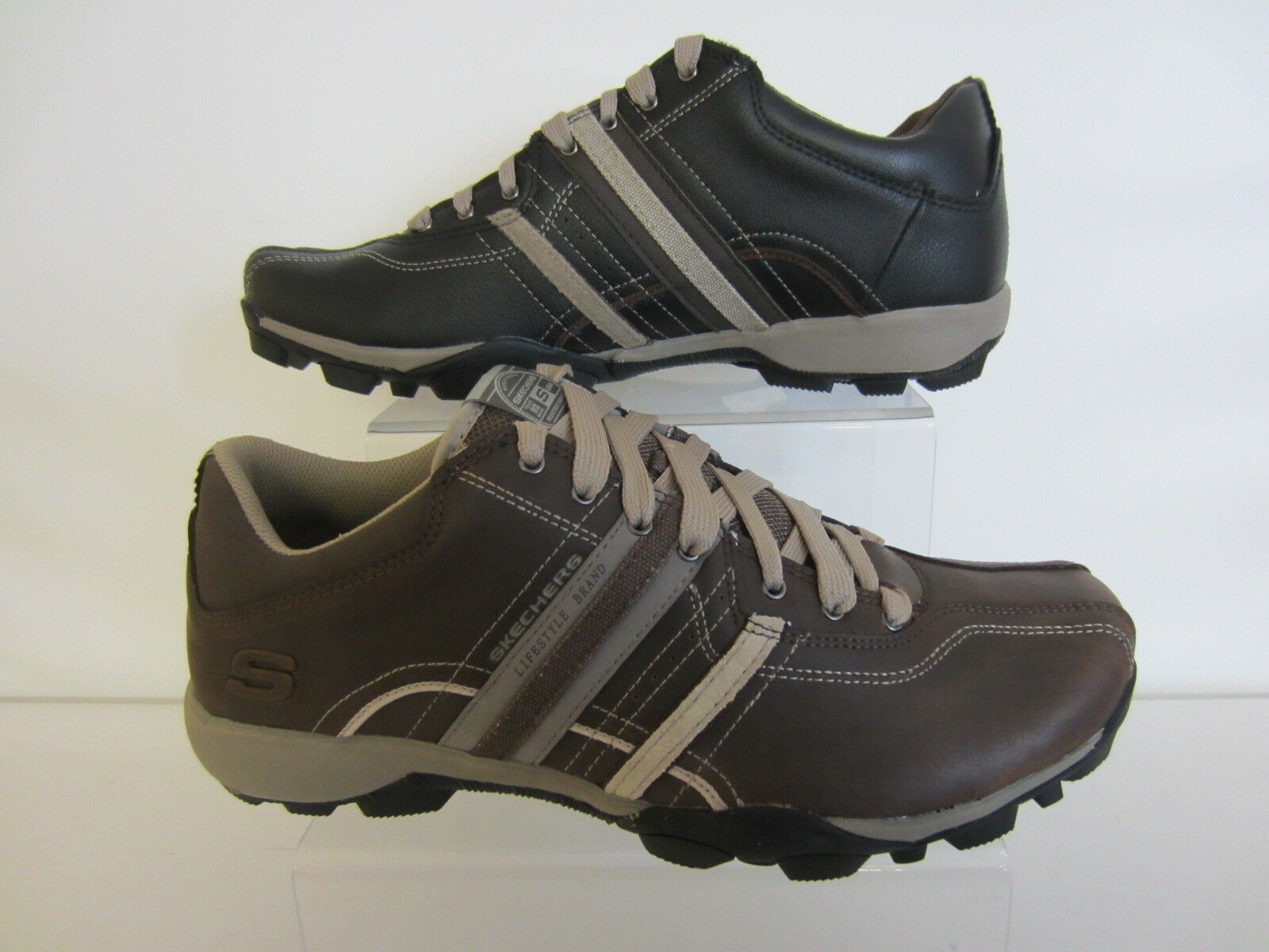 Skechers refrescar Sport para hombres oscuro negro / marrón u oscuro hombres Marróntrainer 50856 / (IR) 063562