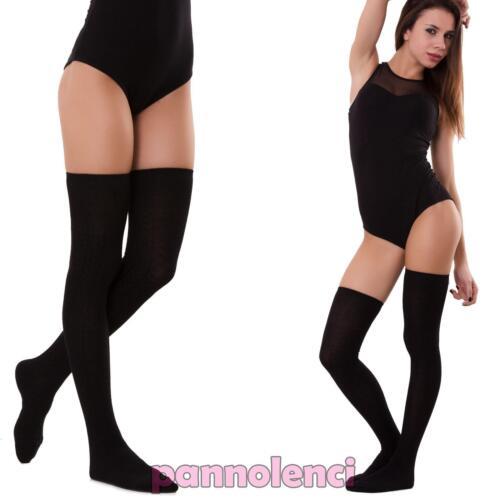 Calze parigine elasticizzate calzettini donna calzettoni calzini alti S-907