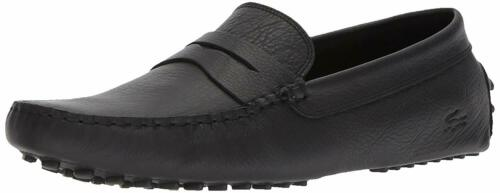 Lacoste Concours 118 Black New In Box Men Casual Shoes Leather Slip On Original