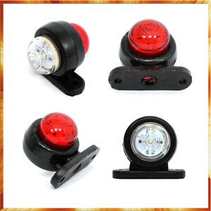 gauche et droit 6 x feux de gabarit lateraux LED rouge et blanc camion remorque fourgon camper car caravane chassis