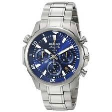 Bulova Men's 96B256 Marine Star Blue Dial Chronograph Stainless Steel Watch