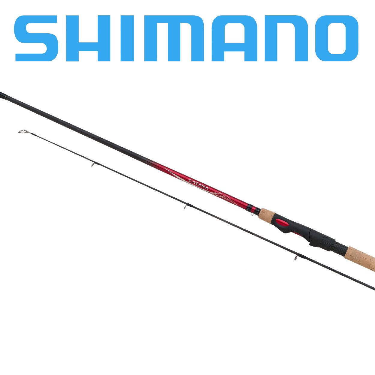 Canna da pesca Shimano Catana EX Spinning rod in carbonio per treda e mare 2 PZ