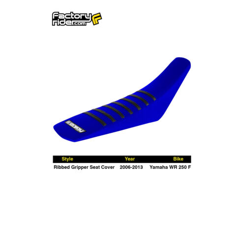 2006-2013 YAMAHA WR 250 F Blue//Black RIBBED SEAT COVER by Enjoy MFG