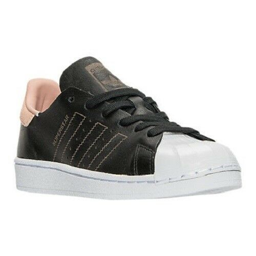 ADIDAS SUPERSTAR DECON LEATHER LO SNEAKERS WOMEN SHOES BLACK BY8702 SIZE 8.5 NEW