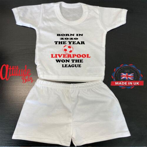 Liverpool Bebé Pantalones Cortos /& T Shirt-nació en 2020 el año Liverpool ganó la Liga