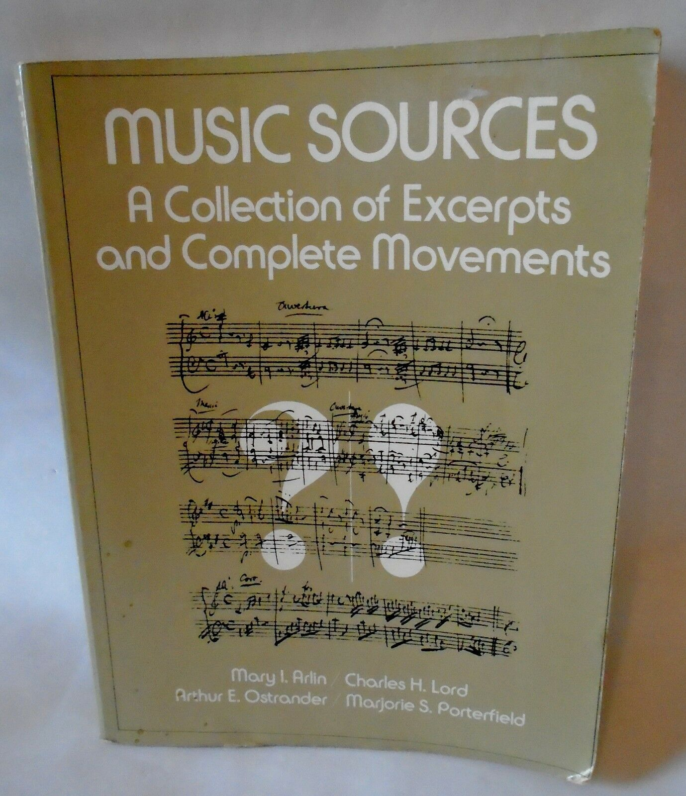Music Sources Collection Excerpts Complete Movements Arlin Lord  Ostrander 1979